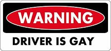 sticker decal car bike bumper laptop macbook jdm tunning driver gay warning