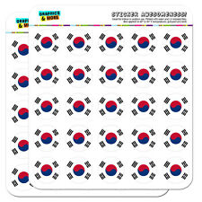 "South Korea National Country Flag 1"" Scrapbooking Crafting Stickers"