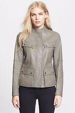 NWT VINCE Dark Khaki Cargo Lambskin Leather Jacket 1,195 4 6 Small S