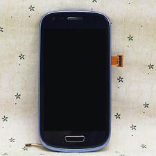 Komplett Blau LCD Display Touchscreen & Rahmen Für Samsung Galaxy S3 Mini i8190
