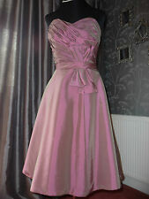 Prom/bridesmaids gown. Size 10..Rose/green shot taffeta..net underskirts in red