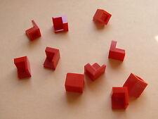 Lego 10 panneaux coins rouges set 8142 4841 9324 4483 / 10 red corner panels