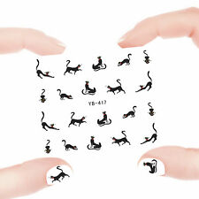 Nail Art Manicure Water Transfer Decal Sticker Lovely Cat YB417
