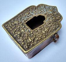 Ancien reliquaire en cuivre et laiton Ghau Tibet 19e