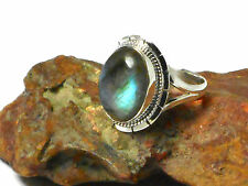LABRADORITE    Sterling  Silver   925   RING  -   Size  S  -  Gift  Boxed!
