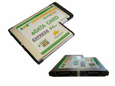 Carte ExpressCard 54mm - 2 Ports eSATA - Affleurante - Chipset JMicron