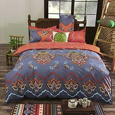 Queen Duvet Cover Set Hippie Bohemian Mandala Quilt Doona Indian Comforter New