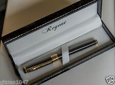 New Classic Black & Gold Fountain Pen in Gift Box