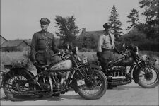 713093 OPP 1934 Motorcycle Patrol A4 Photo Print