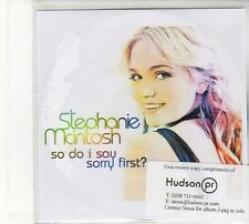 (FD27) Stephanie Mclntosh, So Do I Say Sorry First? - DJ CD