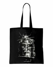 Turin Shroud Jesus Cotton Shoulder Shopping Bag - Christian Gift Present