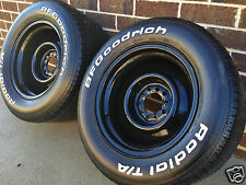 "15"" 5"" 6 7"" 8"" 9"" 10"" BLACK steel WHEELS RIMs FORD DUEL RALLY HQ CHEVY HOLDEN"