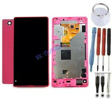 KIT COMPLET VITRE TACTILE ÉCRAN LCD CHASSIS ARRIÈRE SONY XPERIA Z1 COMPACT ROSE