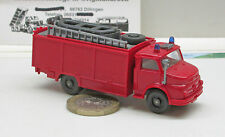 Wiking 623/8 Fire brigade Rescue vehicle with boat MB 1413, red