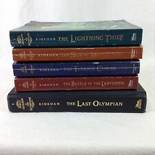 Percy Jackson Olympians Rick Riordan Complete Set Mixed Lot Paperback Hardcover