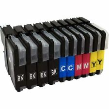 10 ink cartridges LC980 LC1100 Compatible for Brother DCP & MFC Printers XL