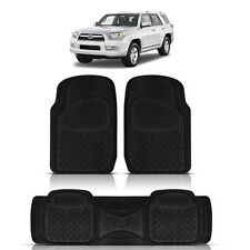 3PC DUTY ACK RUBBER FLOOR MATS for TOYOTA SEQUOIA TACOMA