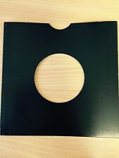 "25 X 7"" BLACK CARD RECORD MASTERBAGS SLEEVES / COVERS *NEW*"