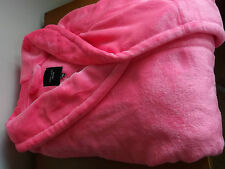 new look size 24/26  pinky/coral supersoft robe/dressing gown shorter style!