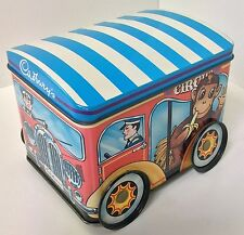 CADBURYS ANIMALS / VINTAGE VAN CIRCUS BISCUIT TIN TRAILER WAGON COLLECTABLE RARE