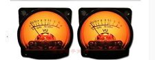 2pcs Panel VU Meter Warm Back Light Audio Level Amp