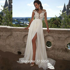 Sex Lace White/Ivory Wedding Dress Bridal Gown Custom size 6 8 10 12 14 16 18++