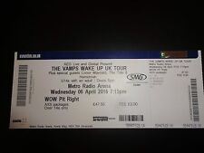 The Vamps / Conor Maynard Used Concert Ticket - April 16 Newcastle
