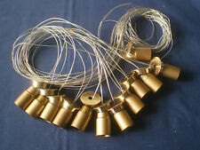 12 VTG MURANO BRASS ARMS ELECTRICAL WIRES PARTS $8000 CHANDELIER LAMP ITALY