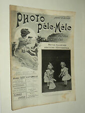 Revue Photo Pele Mele N°11  9/1903  photographie journal magazine stéreo book