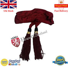New British Officer Wait Sash Marron Color/Army Officer Ceremonial Waist Sash
