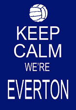 Modern Shabby Chic Keep Calm we're Everton Football A3 Art Poster Print