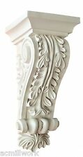 Corbel Acanthus leaf 12 x5x5 Inch Primed White bracket for wall  shelf ceiling
