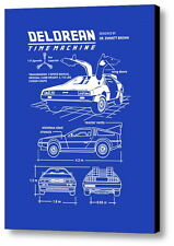 Back To The Future Delorean Time Machine Flux Capacitor Framed Blueprint Plans