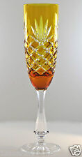 FABERGE ODESSA CHAMPAGNE FLUTE GLASS, AMBER GOLD CASED CRYSTAL SIGNED GORGEOUS!