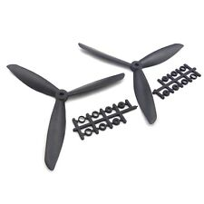 "NEW 8045 8x4.5"" 3-blade Counter Rotating Propeller CW CCW Blade-Black U"