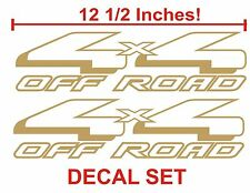 4x4 Truck Bed Decals, Gold (Set) for Ford F-150 and Super Duty