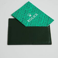 Rolex portafoglio porta carte di credito porta garanzia 0101.40.34 pelle verde