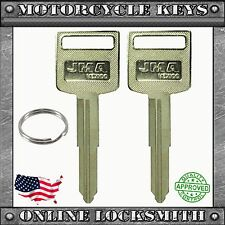 2 NEW BLANK UNCUT KEYS FOR SUZUKI MOTORCYCLES 1996+ KEYWAY SUZ18 / SUZU-12D