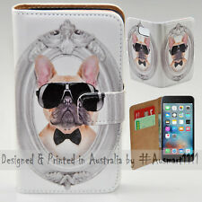 Wallet Phone Case Flip Cover for iPhone 6 Plus / 6S Plus French Bulldog Potrait