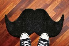Mat The Moustache Black Mustache Doormat Front Floor Entrance Welcome Rug Fun