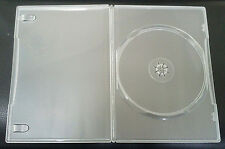 5 Clear Slim line 7mm Single DVD CD Cases With Sleeve