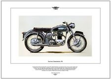 NORTON DOMINATOR 99 - Motorbike Fine Art Print - 600cc Twin wideline featherbed