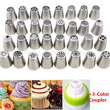 24 Pcs Russian Flower Cake Icing Piping Nozzles Decorating Tips Baking Tools Set