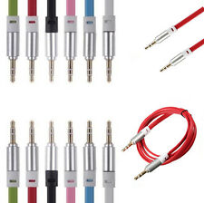 3.5mm Gold Jack to Jack Mini Stereo Audio Aux Cable for iPod Car iPhone HTC Sony