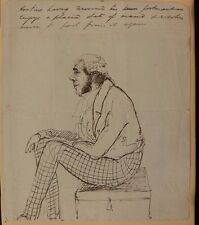 George Hoskins (Barrister, Egyptian Traveller) c1842 Orig. Pen & Ink Caricature