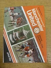 24/08/1977 Manchester United v Coventry City  . Condition: We aspire to inspect