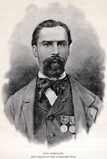 LIVIO ZAMBECCARI: Carboneria, Generale di Garibaldi,Massoneria,Risorgimento.1892