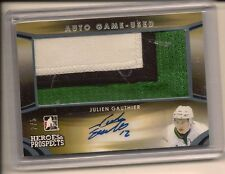 JULIEN GAUTHIER 2015-16 LEAF ITG HEROES & PROSPECTS GAME USED PATCH AUTO /5