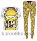 GARFIELD CAT Ladies Pyjamas Primark T Shirt Leggings