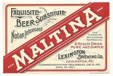 Pre-pro Maltina Label - Lexington, KY - Lexington Brewing Co.